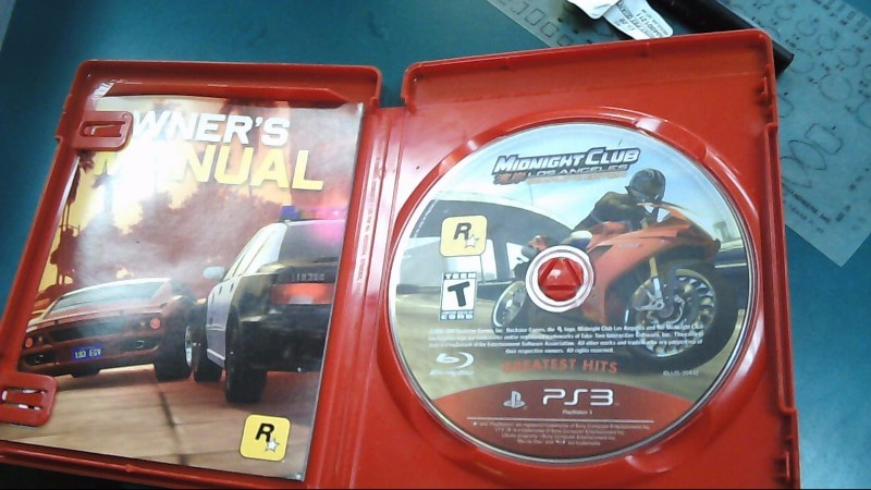 Sony PlayStation 3 Game MIDNIGHT CLUB LOS ANGELES COMPLETE EDITION