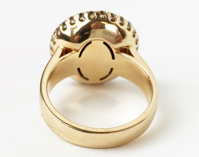 Champagne Diamond Fashion Ring 132 Diamonds 2.64 Carat T.W. 18K Rose Gold 10.7g