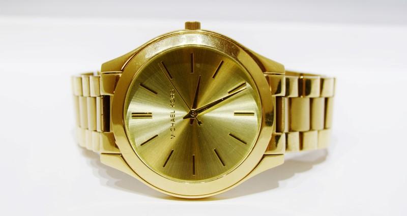 Michael Kors MK-3179 Slim Runway Gold Toned St. Steel Women's Watch