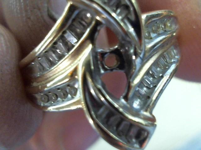 Lady's Diamond Fashion Ring 28 Diamonds .56 Carat T.W. 10K Yellow Gold 5.5g