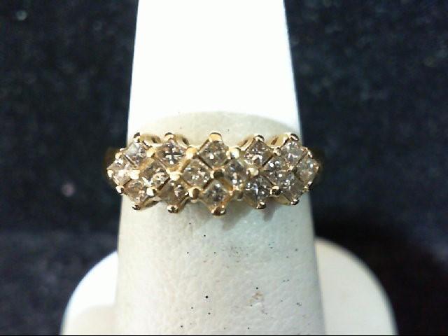 Lady's Diamond Cluster Ring 16 Diamonds .64 Carat T.W. 14K Yellow Gold 3.6g