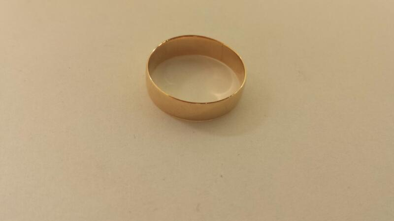 18K-Y/G Wedding Band Size 7