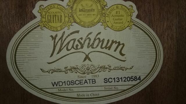 WASHBURN WD10SCEATB