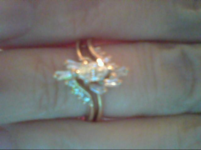 Lady's Diamond Wedding Set 15 Diamonds .42 Carat T.W. 14K Yellow Gold 4.2g