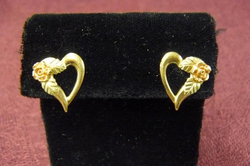 Gold Earrings 10K Yellow Gold 1.19dwt