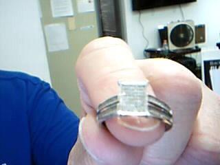 Lady's Diamond Fashion Ring 90 Diamonds .90 Carat T.W. 10K White Gold 4.08g