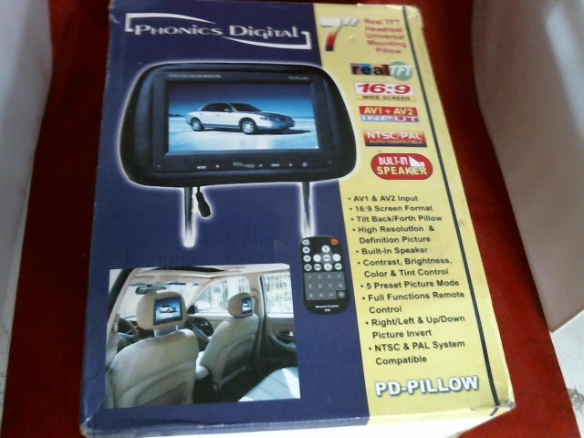 PHONICS DIGITAL Car Video PD-PILLOW