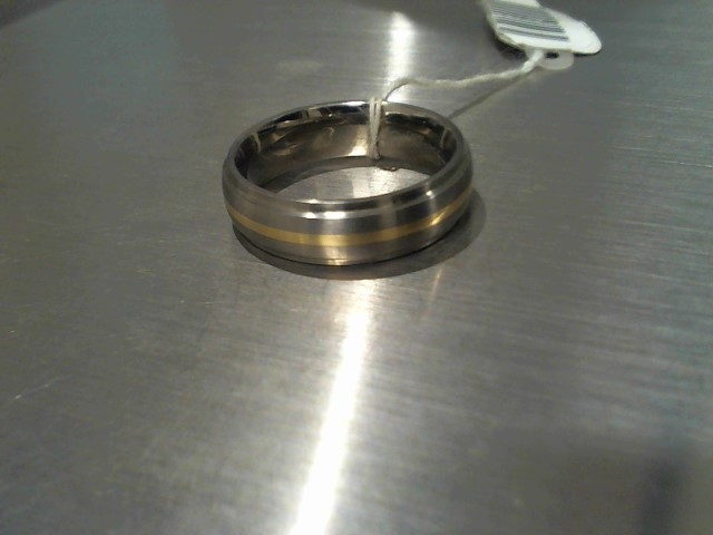 Gent's Wedding Band Silver Titanium 10g