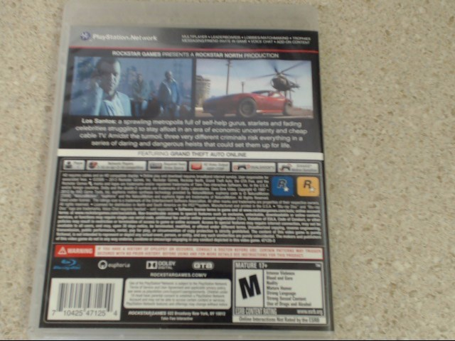 GRAND THEFT AUTO V - PLAYSTATION 3 GAME