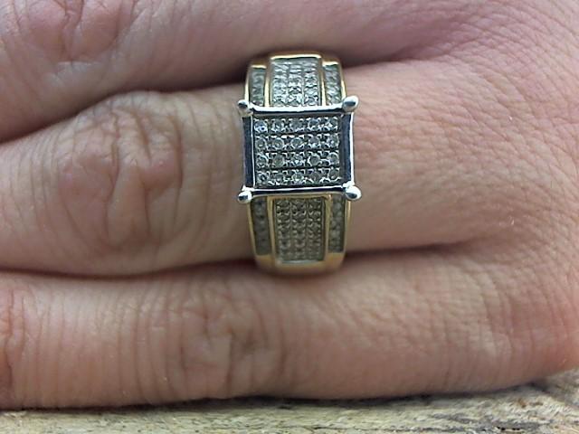 Lady's Diamond Fashion Ring 84 Diamonds .252 Carat T.W. 10K Yellow Gold 3.9g