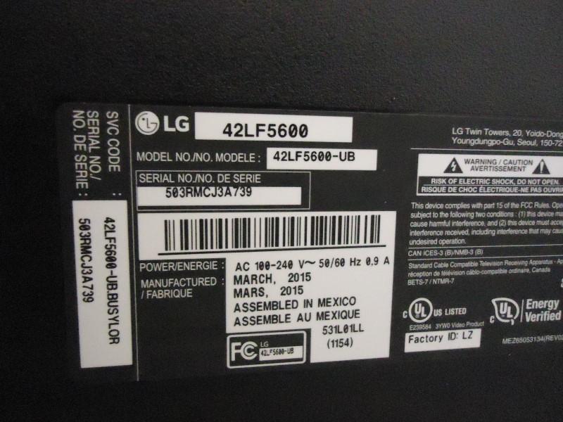 LG Flat Panel Television 42LF5600-UB
