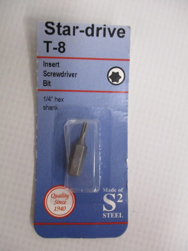 LOT OF 4 CENTURY STAR-DRIVE INSERT SCREWDRIVER BITS