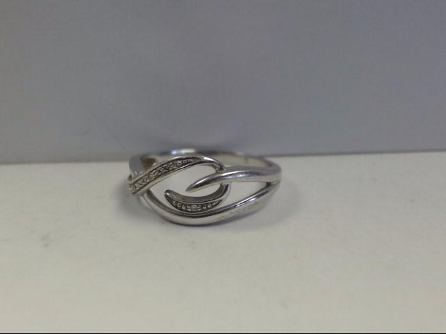 Lady's Diamond Fashion Ring 6 Diamonds .06 Carat T.W. 10K White Gold 2.29g