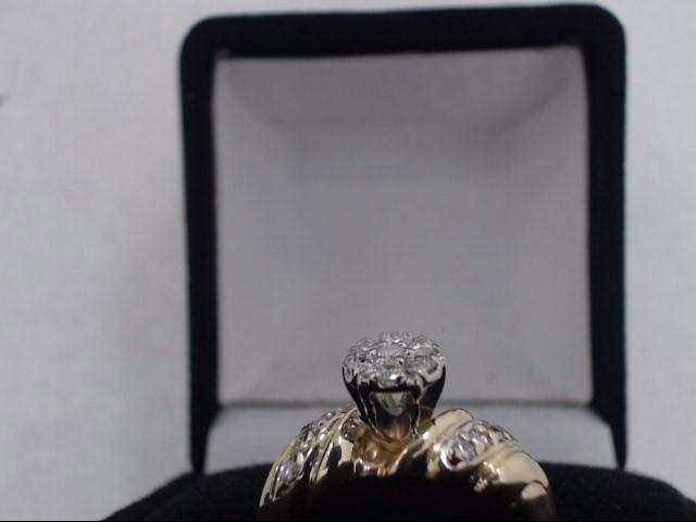 Lady's Diamond Cluster Ring 7 Diamonds .35 Carat T.W. 14K Yellow Gold 4.2g
