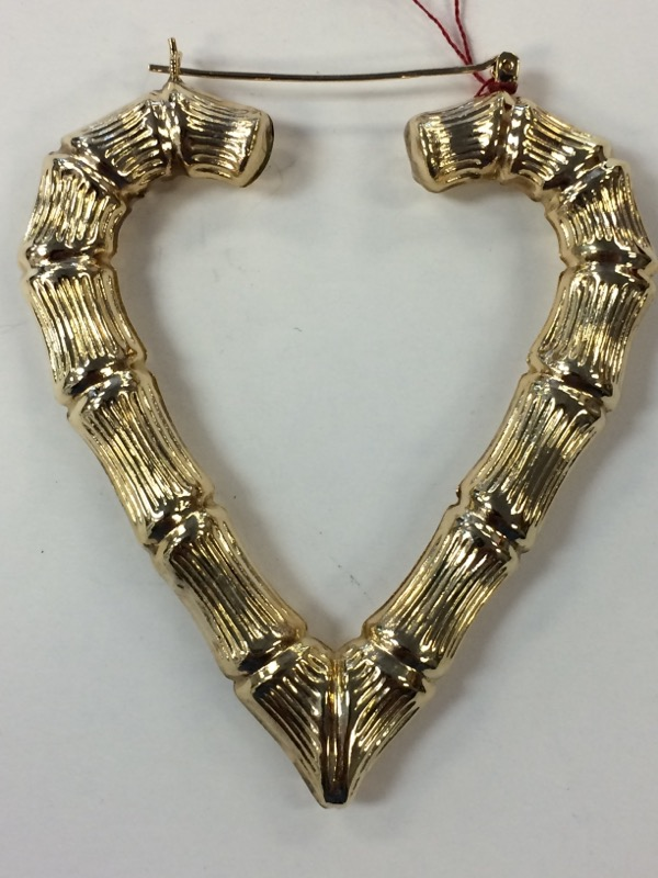 Gold Heart Earrings 10K Yellow Gold 9g