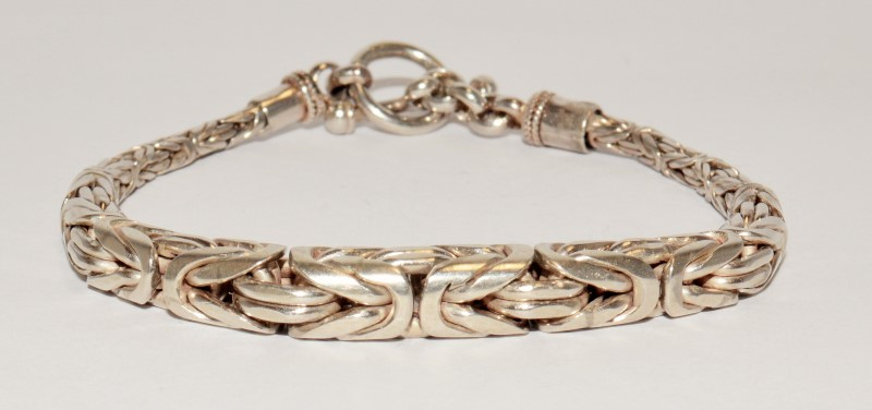 "8"" STERLING SILVER BRACELET, WITH INDUSTRIAL LOOK. FREE SHIPPING!!!"