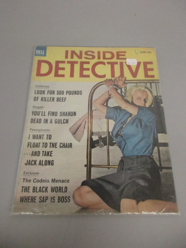 LOT OF 6 VINTAGE INSIDE DETECTIVE TRUE DETECTIVE FRONT PAGE DETECTIVE MAGAZINES