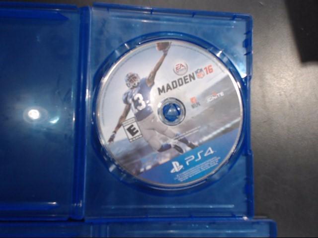 SONY PS4 MADDEN 16