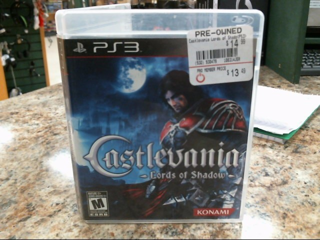 SONY Sony PlayStation 3 Game CASTLEVANIA LORDS OF THE SHADOW