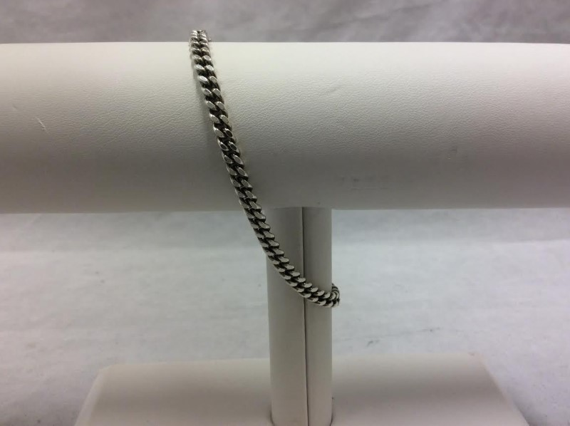 Silver Curb Bracelet 925 Silver 16.9g