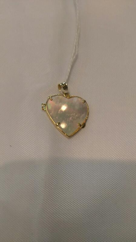 Synthetic Mother Of Pearl Gold Pendant 14K YELLOW/ROSE Gold 2g