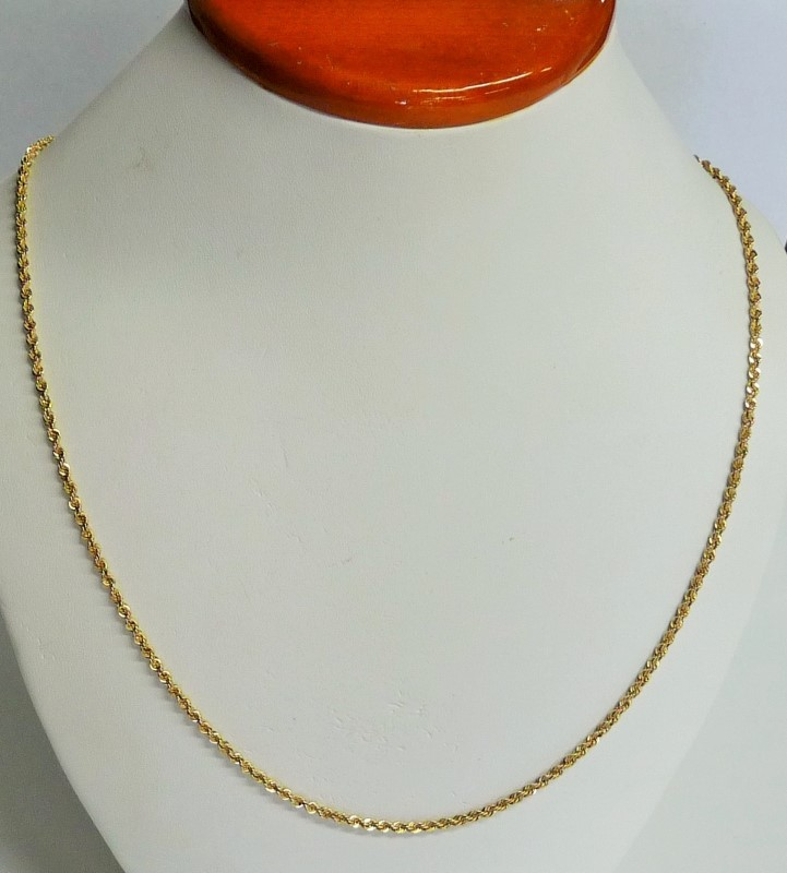 Gold Rope Chain 14K Yellow Gold 8.44dwt
