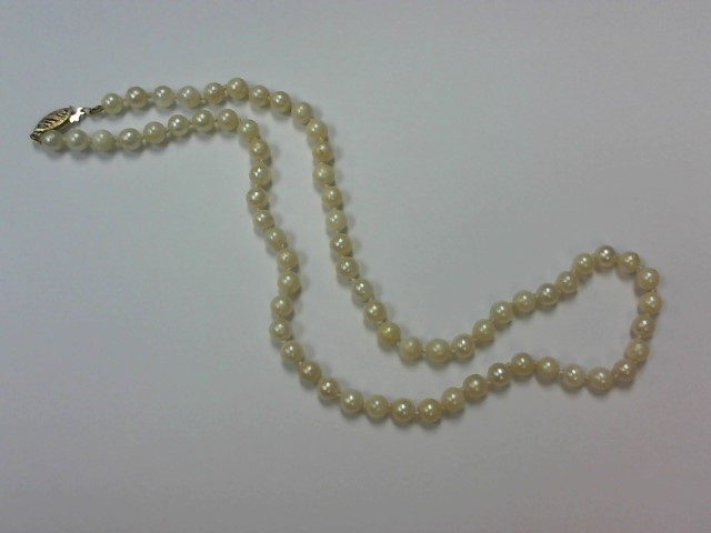 Pearl Stone Necklace 14K Yellow Gold 15g