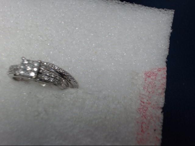 Lady's Diamond Engagement Ring 45 Diamonds .45 Carat T.W. 14K White Gold