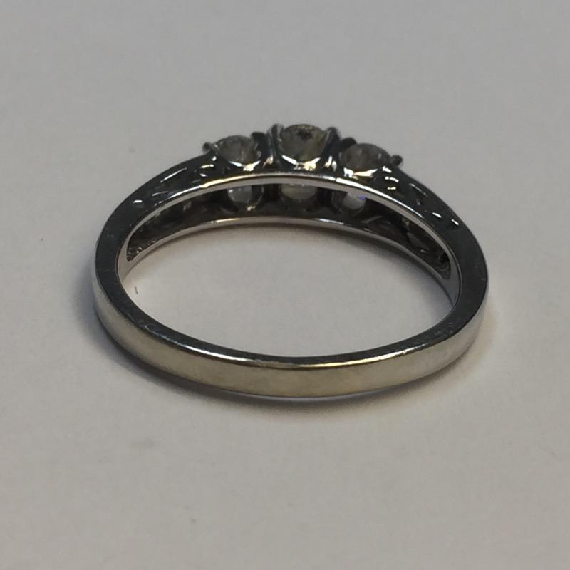 Lady's Diamond Engagement Ring 21 Diamonds 1.03 Carat T.W. 10K White Gold