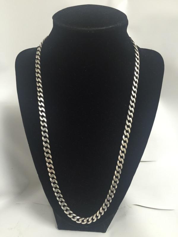 """22"""" Silver Curb Chain 925 Silver 26.9dwt"""