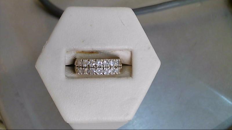 Lady's Gold-Diamond Anniversary Ring 14 Diamonds .98 Carat T.W. 14K Yellow Gold