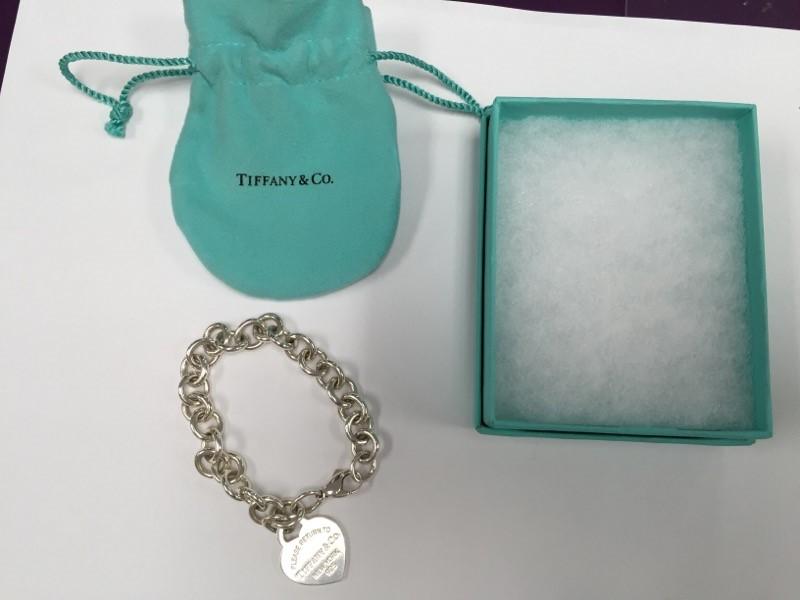 TIFFANY & COMPANY HEART TAG BRACELET W/ LOBSTER CLASP