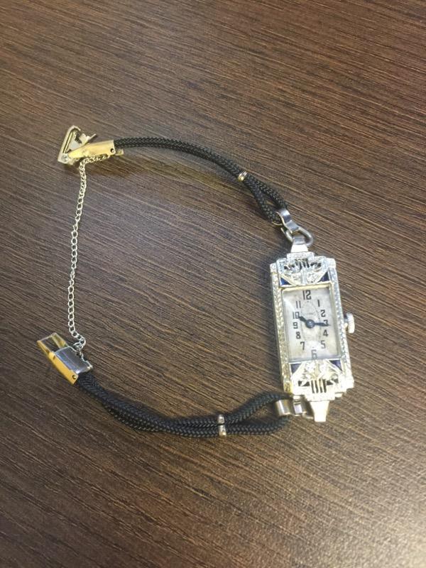 Hoffers Ladies Art Deco 14k Wristwatch