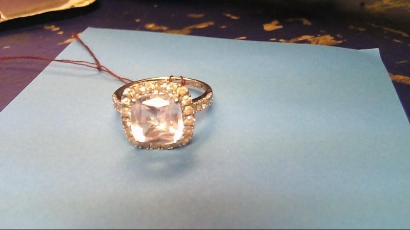 Lady's Gold Ring 14K White Gold 3.4g