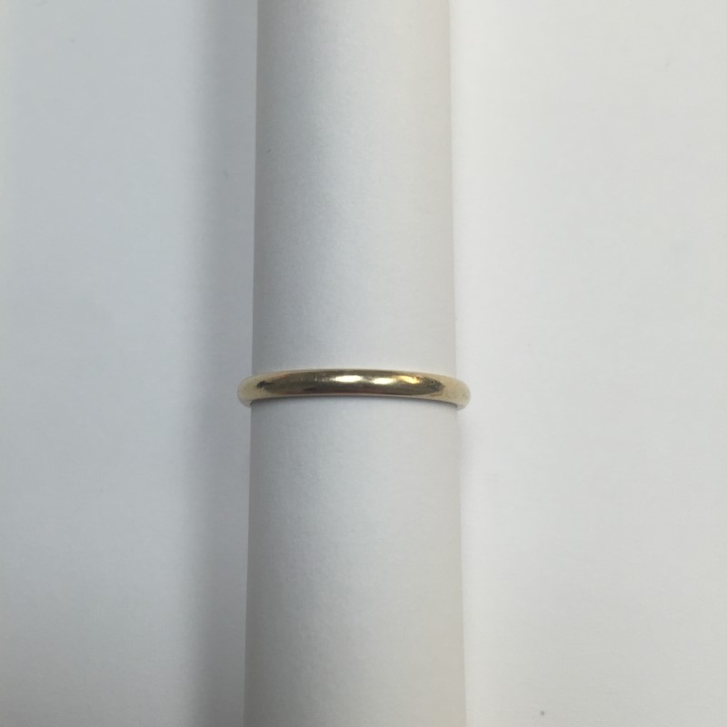 Lady's Gold Ring 14K Yellow Gold 1.2dwt Size:7.8