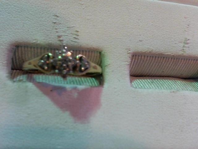 Lady's Diamond Engagement Ring 15 Diamonds .24 Carat T.W. 10K Yellow Gold 1.9g
