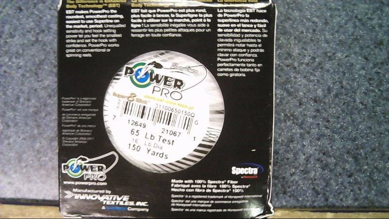 POWER PRO SUPER 8 SLICK 65lb 150yd