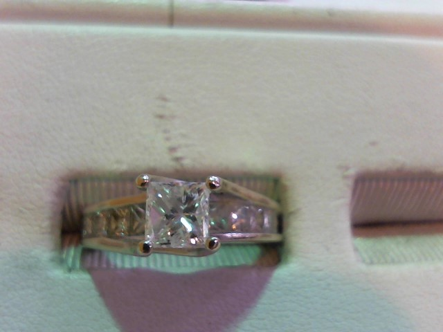 Lady's Diamond Wedding Set 10 Diamonds 1.75 Carat T.W. 14K White Gold 4.4g