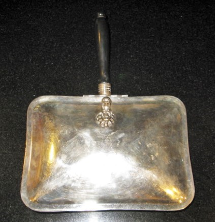 F.B ROGERS SILVER CO. BED WARMER or SILENT BUTLER - STANDING LION MARKED