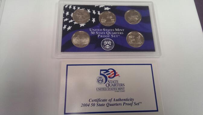 UNITED STATES 2004 UNITED STATES QUARTERS PROOF SET
