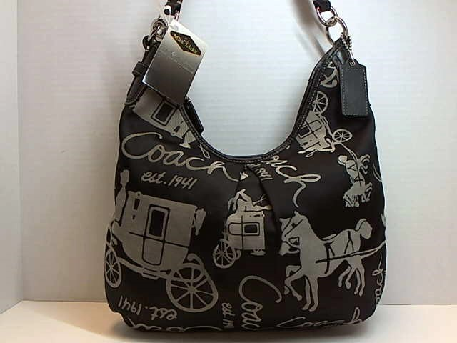 COACH F14480 HORSE CARRIAGE JACQUARD HOBO