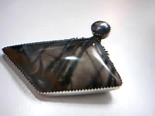 Brown Stone Silver-Stone Pendant 925 Silver 18.4g