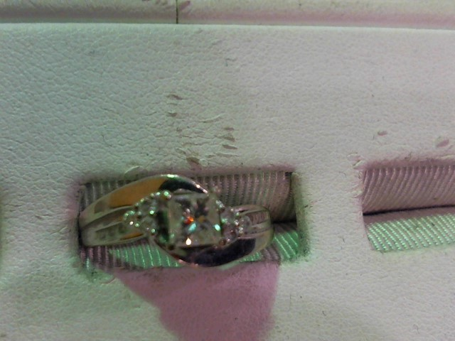 Lady's Diamond Wedding Set 13 Diamonds .54 Carat T.W. 14K White Gold 3.9g
