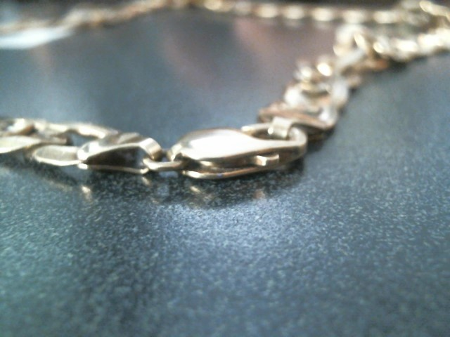 """23"""" C LINK Gold Anchor Chain 10K Yellow Gold 48.4dwt"""