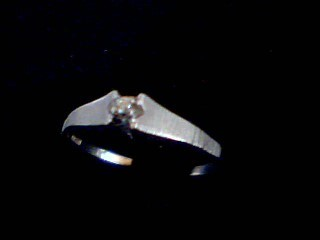 Lady's Silver-Diamond Ring .02 CT. 925 Silver 1.3g