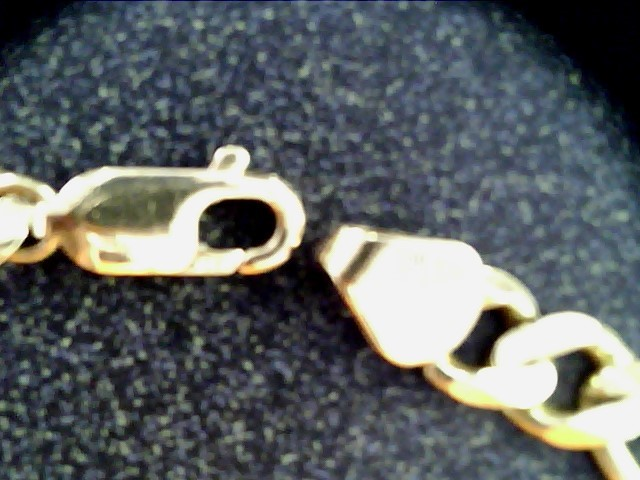 Gold Figaro Bracelet 14K Yellow Gold 8dwt