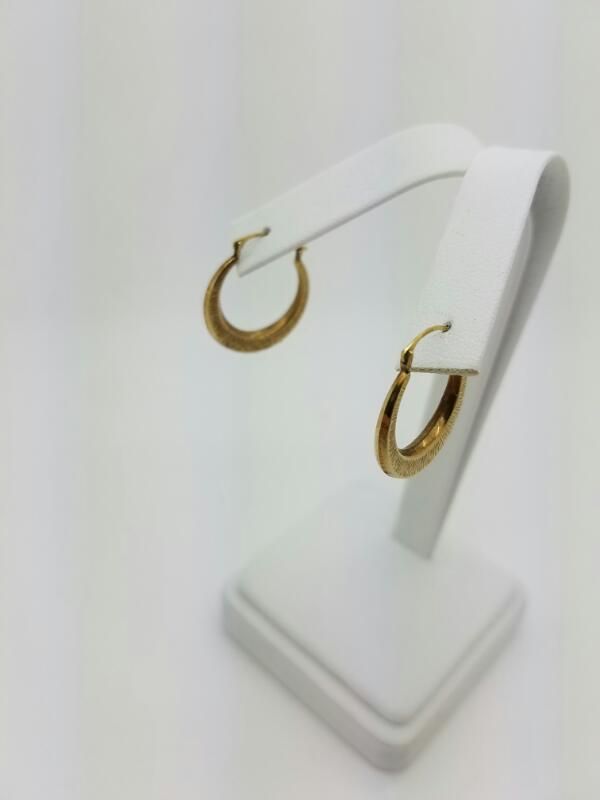 HOOP Gold Earrings 10K Yellow Gold 0.5dwt