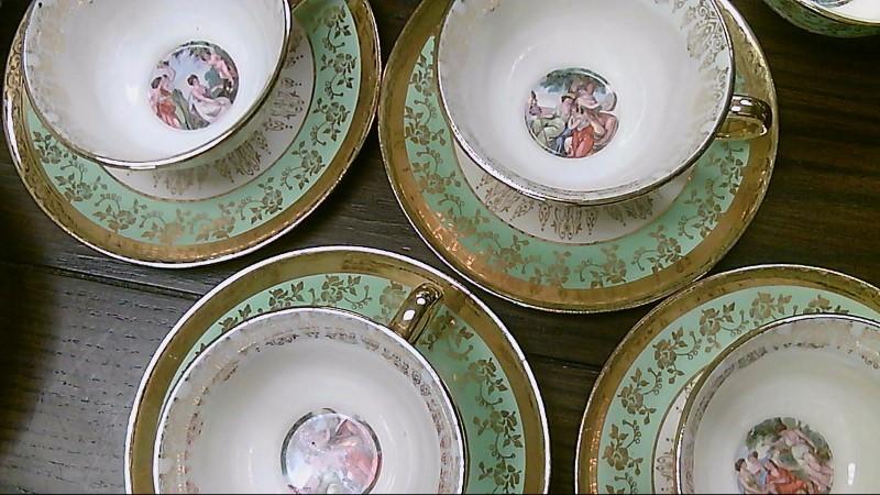 LeMieux 24K Gold Plated Tea Set Handcrafted Set of 8