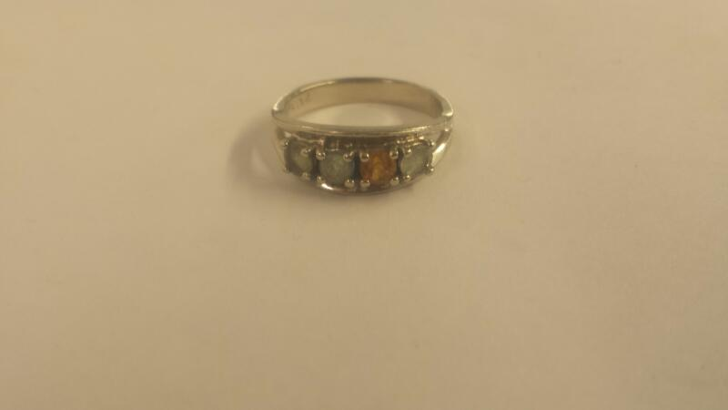 14K-W/G-Stone Mother's Ring