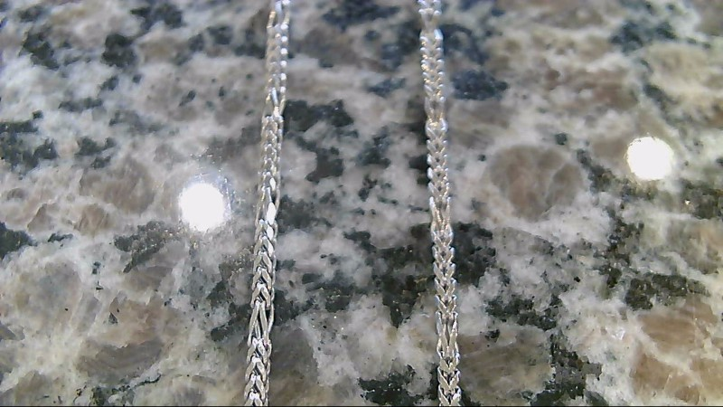 Gold Box Chain 14K White Gold 6.7g 22""
